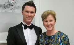 Sen Christine Milne with her son Tom