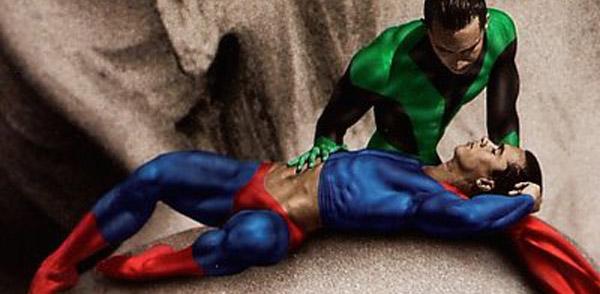 gay superhero banner