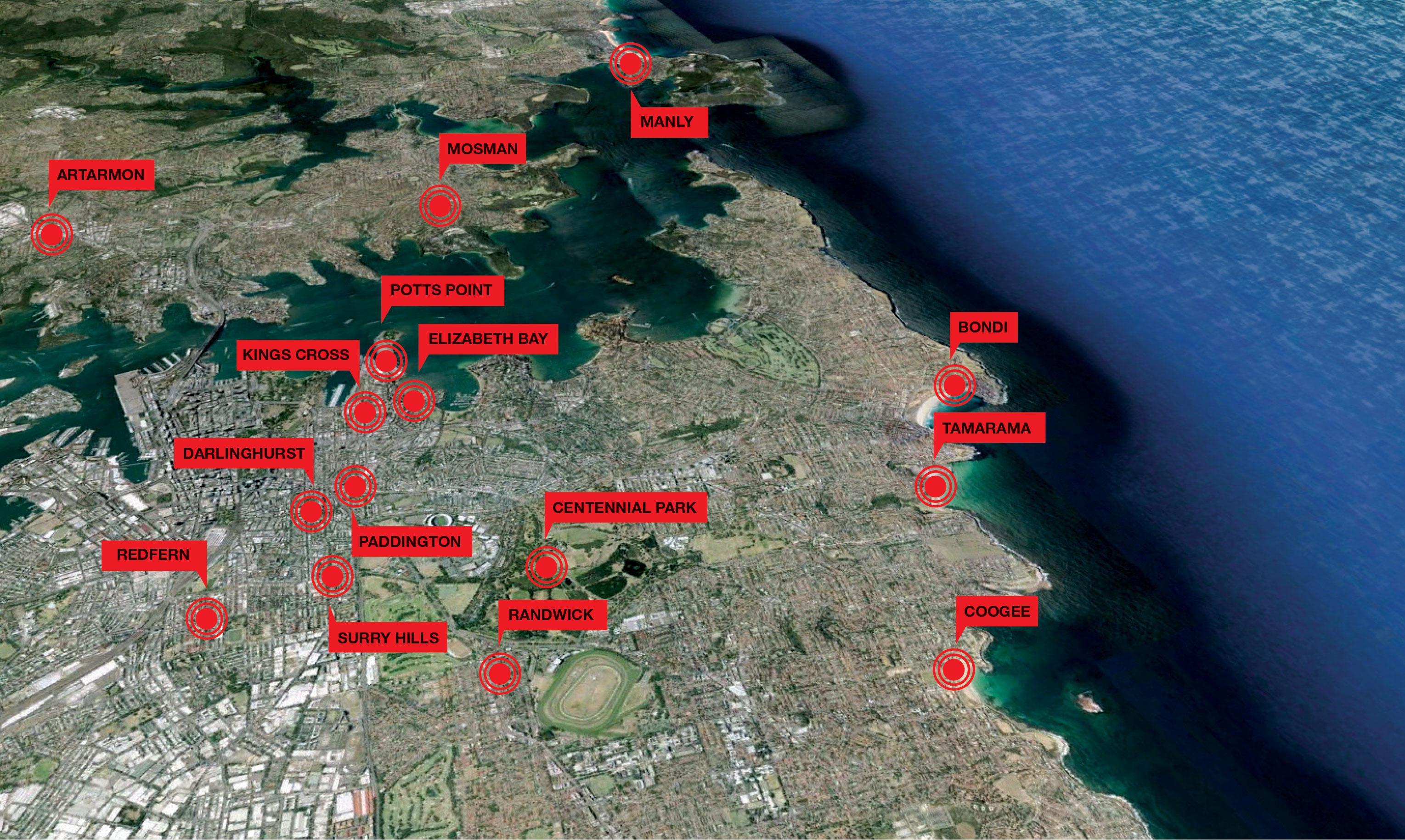 map Gay sydney