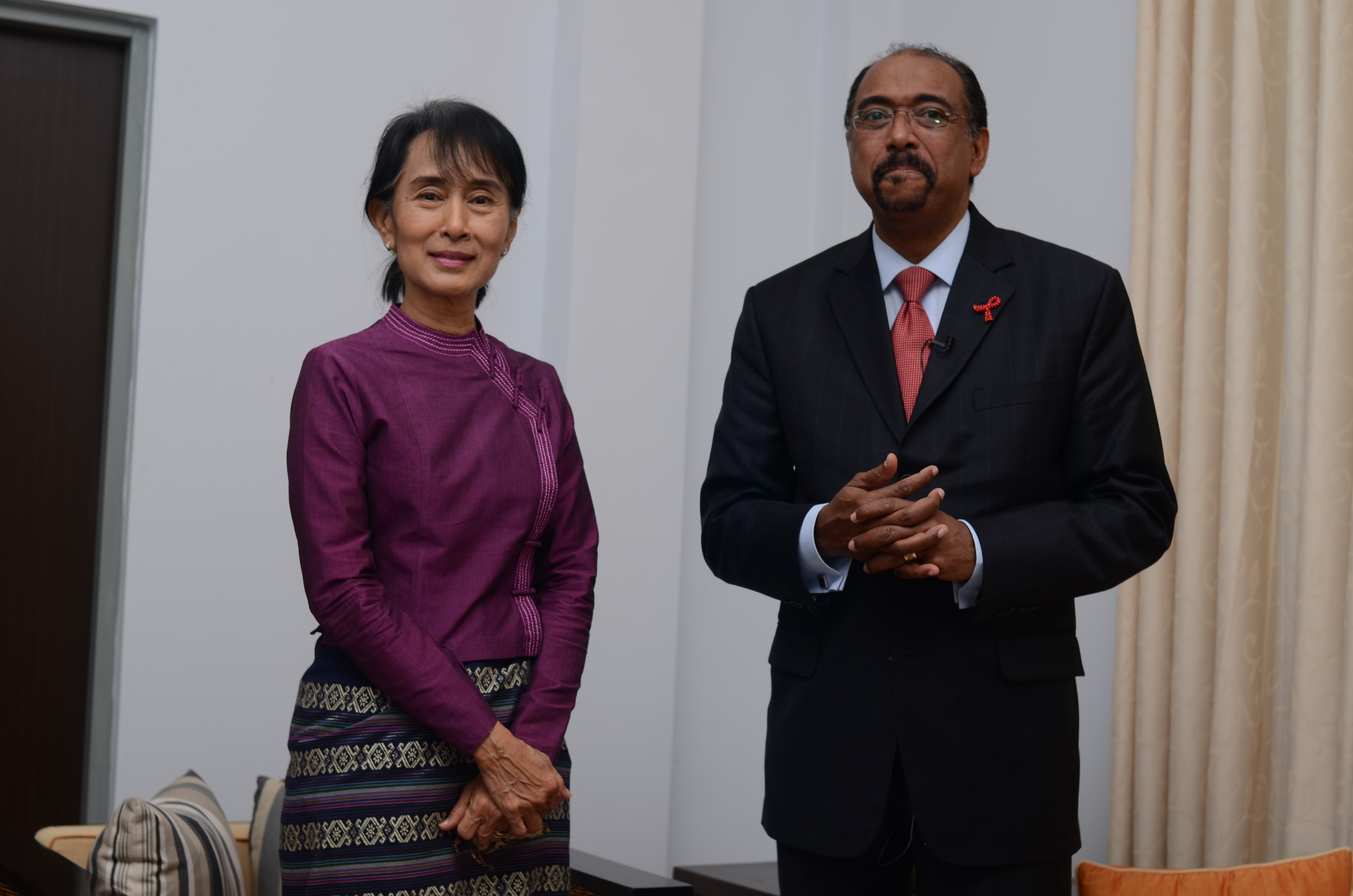 Aung San Suu Kyi and Michel Sidike.JPG