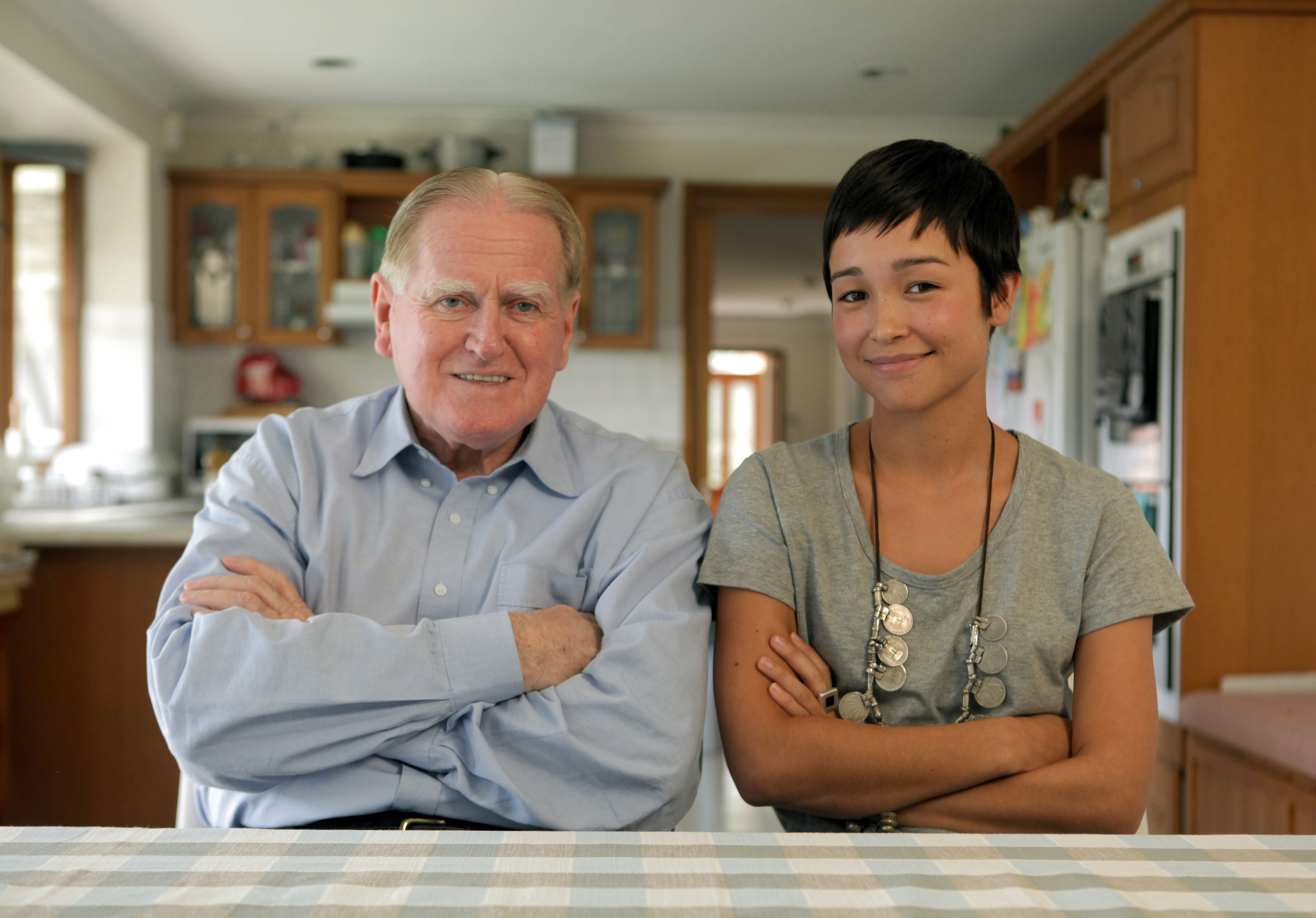 The Rev. Fred Nile and filmmaker Maya Newell