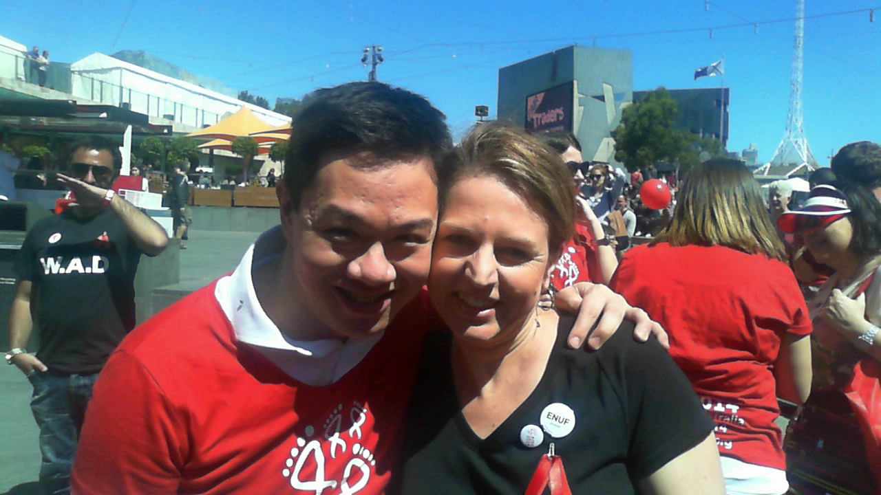 James Chau with Senator Louise Pratt
