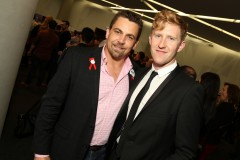 Jason Ball (right) pictured with Joy FM's Dean Beck at the Midsumma launch in November. (PHOTO: Ari Neubauer)