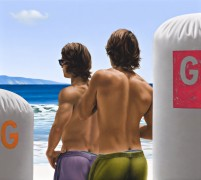 Two Surfers part of the exhibition from Ross Watson for Midsumma 14