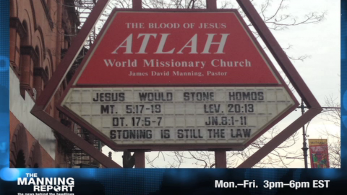 church homophobia homophobic sign