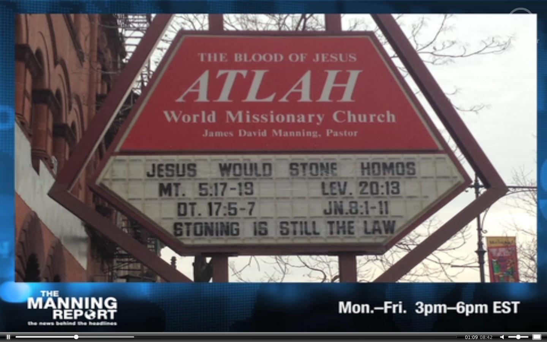 church homophobia homophobic sign