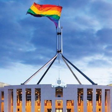 gay canberra federal parliament rainbow
