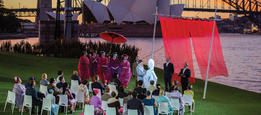 The wedding scene from Madama Butterfly (Photo: James Morgan)