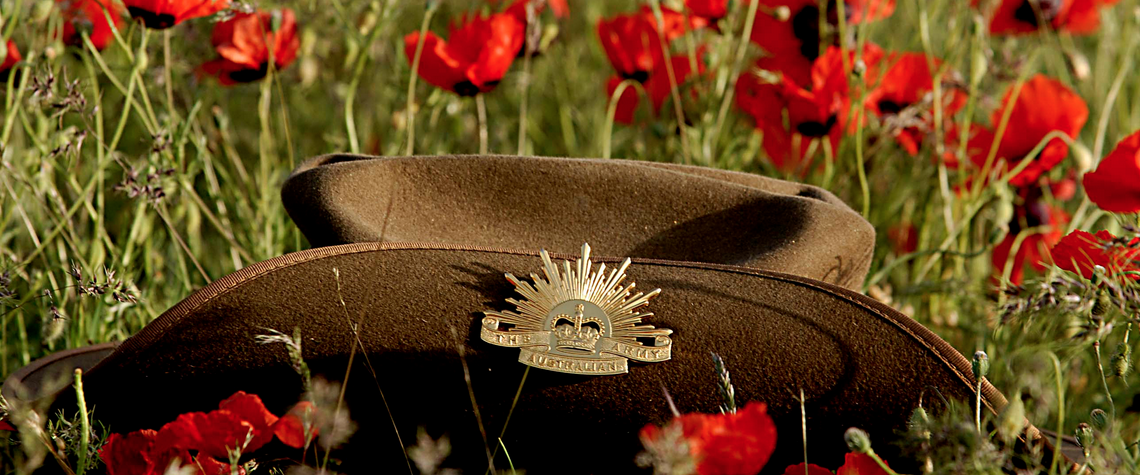 Anzac Day poppies hat defence force