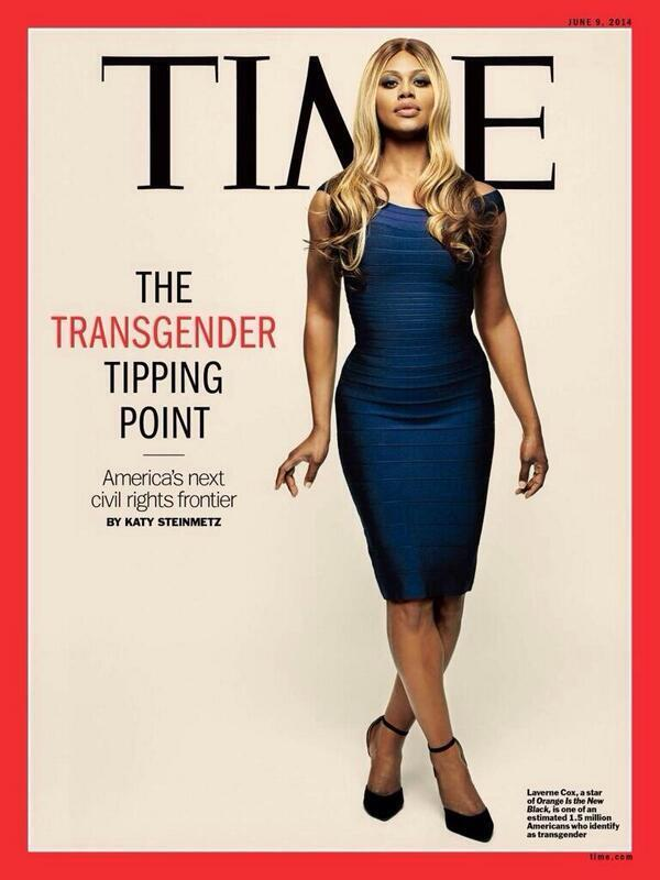 Laverne Cox on the cover of Time magzine