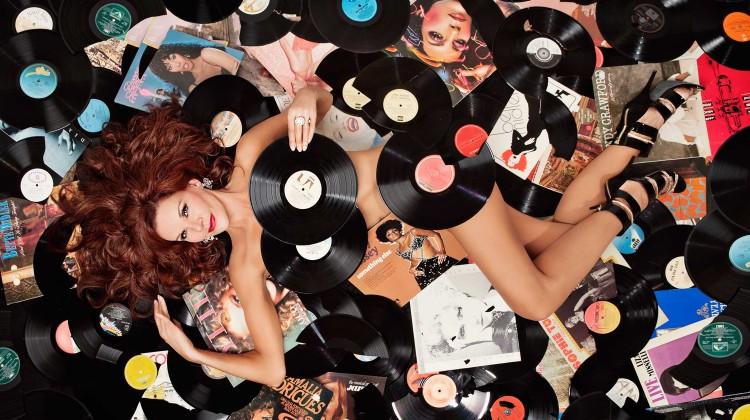 Rhonda Burchmore in Vinyl Viagra