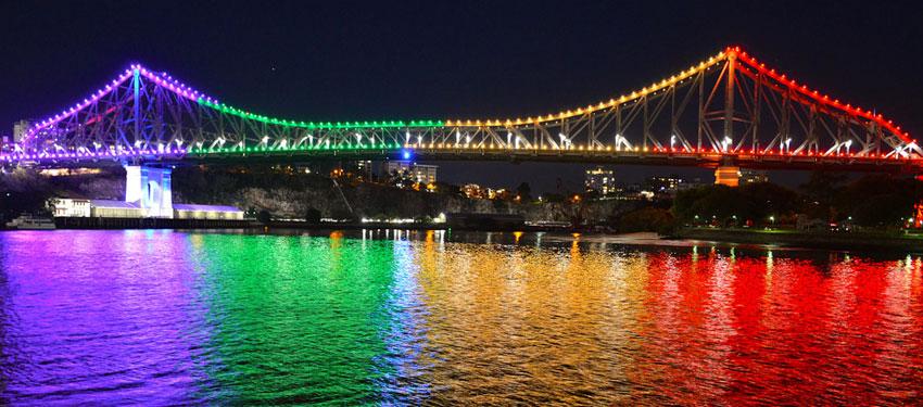 Story Bridge on IDAHOT 2014 (Photo: David Alexander; Star Observer)