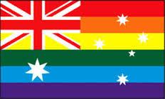 Australia rainbow flag