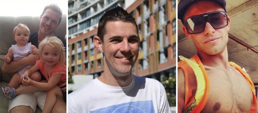 L-R: Christopher Fuller, Matthew Edwards and Trent Cooper