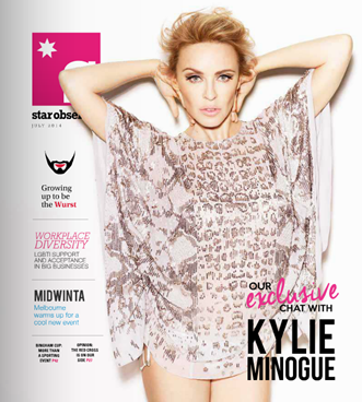 July front page Kylie Minogue