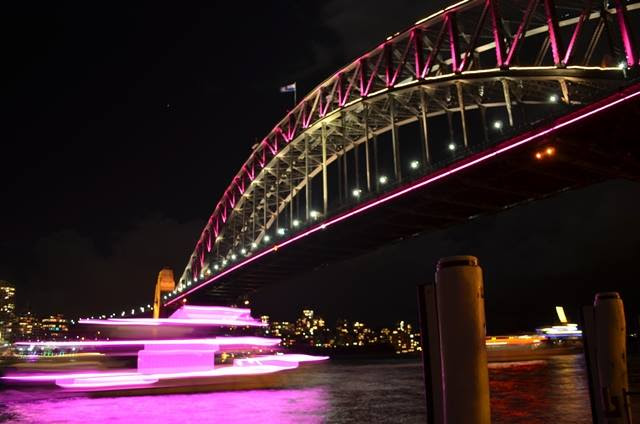 Sydney Harbour Bridge during Vivid Festival (Photo: Benedict Brook)