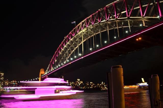 Sydney Harbour Bridge during Vivid Festival (Photo: Benedict Brook)