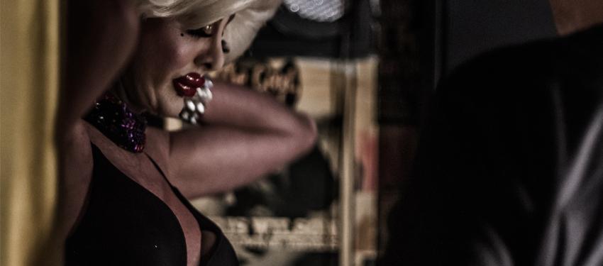 Paris prepares for her show. (Photo: Bodie Strain, Star Observer)