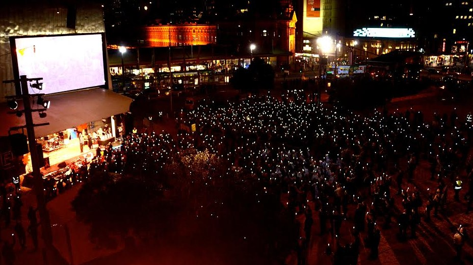 Melbourne candlelight vigil