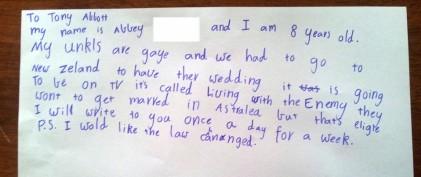 Abbey's letter