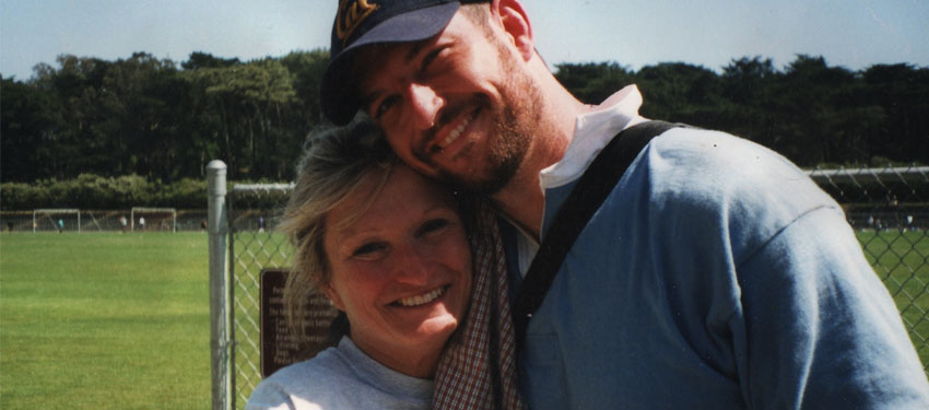 Mark Bingham with mother