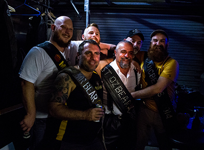 The Mr Australasia Bear contestants all pose for one last time. (Photo: Bodie Strain; Star Observer)