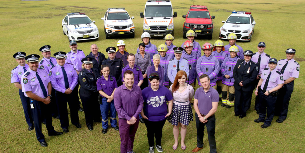 cops ses ambulance wear it purple