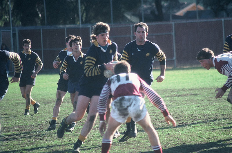Mark Bingham in action during his rugby days