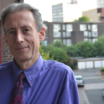 Peter Tatchell at his London home (Photo: Benedict Brook; Star Observer)