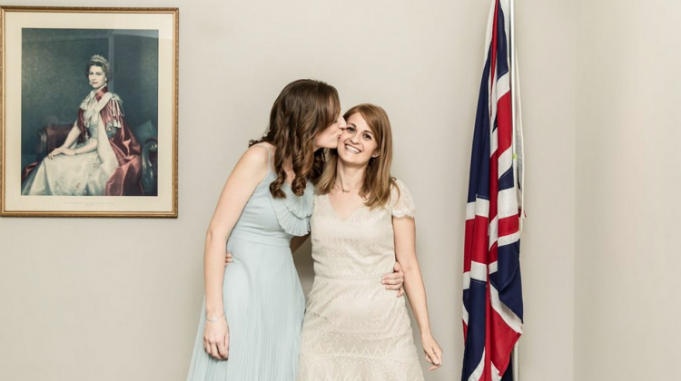 Shirleene & Sarah's UK Wedding Pic