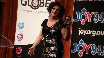Dolly Diamond at the inaugural GLOBE Community Awards in 2014. (Image credit: Dean Arcuri)