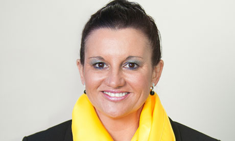 Palmer United Party candidate for TASMANIAN SENATE LEADER Jacqui Lambie