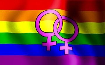 lesbian rainbow flag symbol