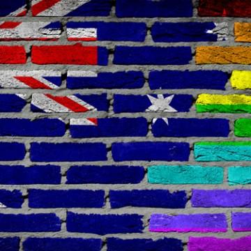 Australia flag rainbow Aussie gay pride Australian