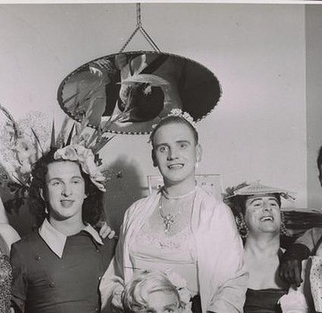 Private drag house party in the 1950s. (Unknown photographer; Source: Australian Lesbian and Gay Archives.)