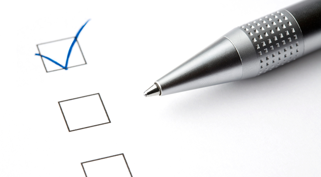 survey online pen exam test tick choice