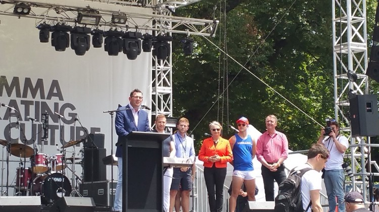 Daniel Andrews at Midsumma Carnival