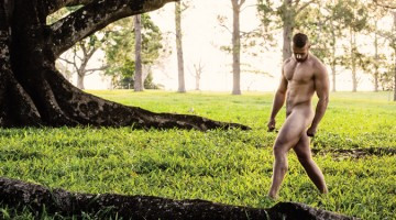 gay men nude naked Manscapes photography, Byron Bay, Australia. Photographer John Bortolin