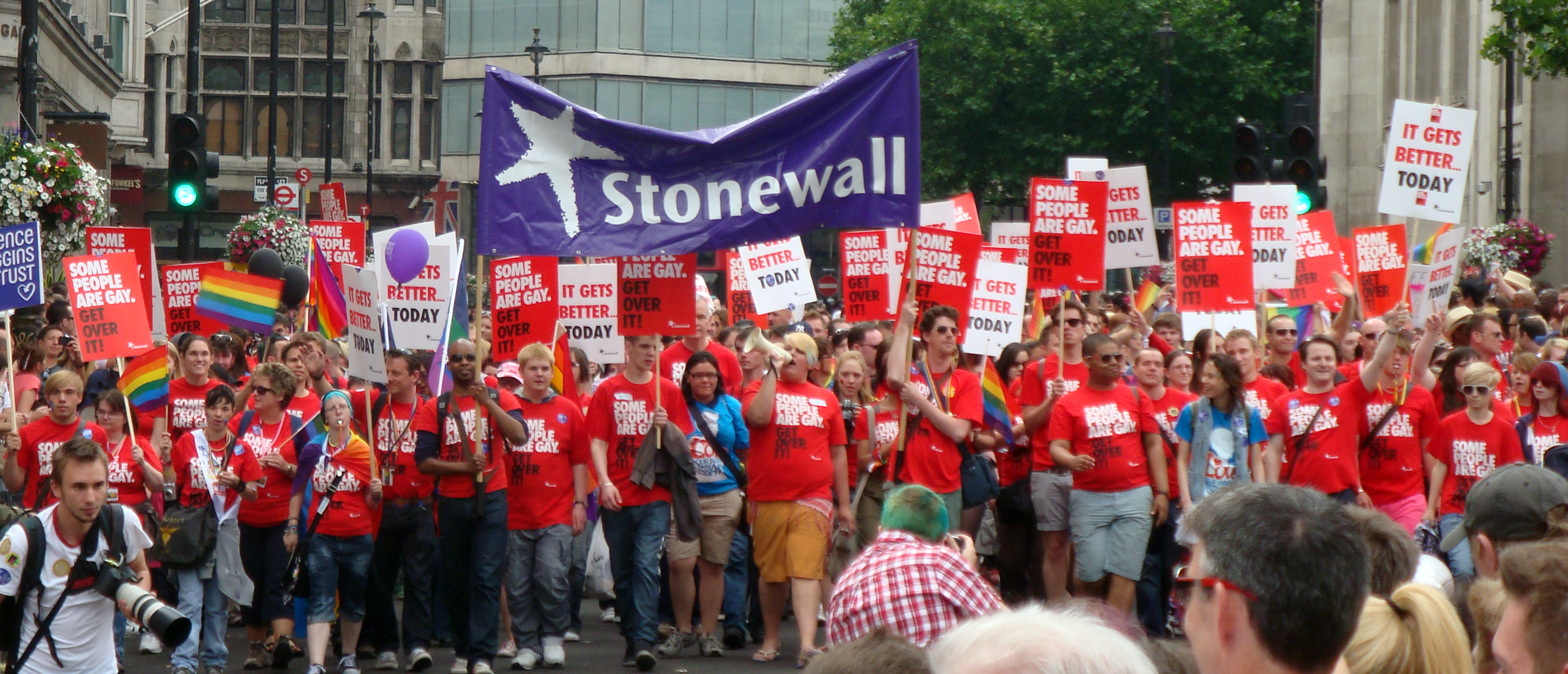 the gay rights nonprofit Stonewall estimates it' s more