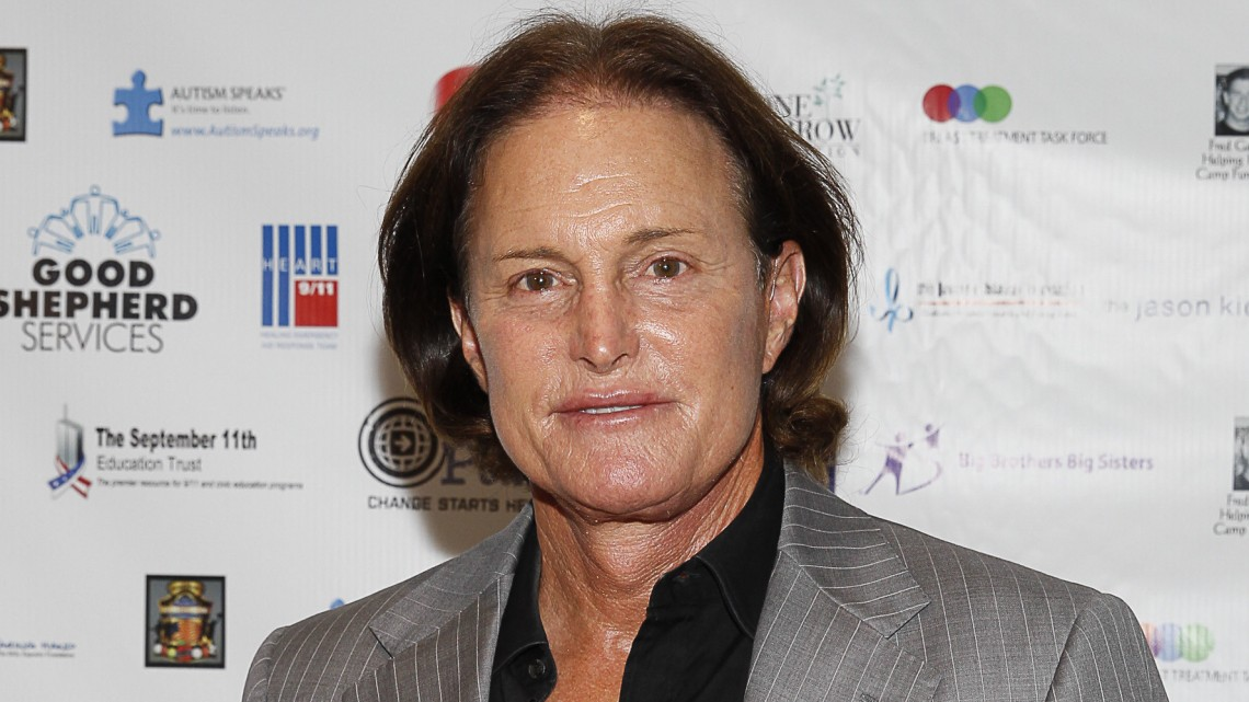 Bruce Jenner arrives at the Annual Charity Day hosted by Cantor Fitzgerald and BGC Partners, on Wednesday, Sept. 11, 2013 in New York. (Photo by Mark Von Holden/Invision/AP)