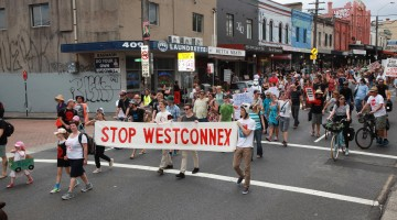 King Street Crawl protest in Newtown - Image courtesy of Martin Brady Photography