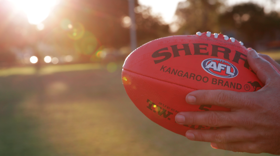 AFL Aussie Rules football ball