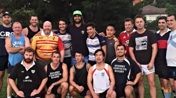 NSW Waratah's Jacques Potgieter meets the Sydney Convicts gay rugby union team this week.