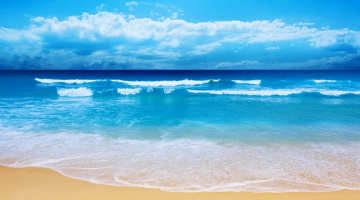 beach ocean waves sand coast water holiday relax