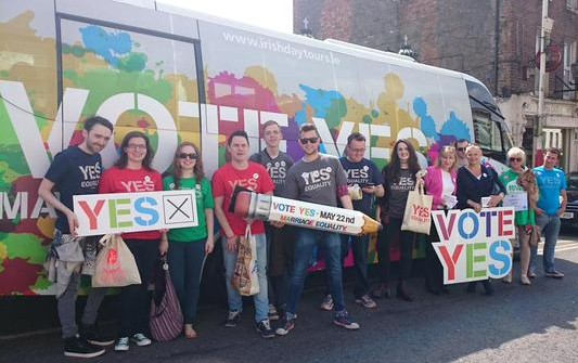 The Yes Equality campaigners on the road in Ireland. (Image source: Twitter)