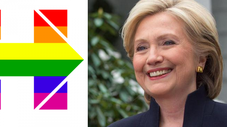 Hillary Clinton's campaign adopted rainbow colours today in support of marriage equality.