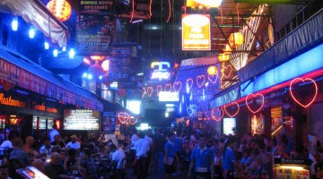"Silom Soi 4 is at the heart of Bangkok's ""gaybourhood""."