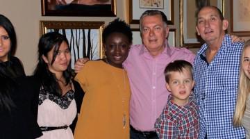 John Guthrie, Dennis Cash and family.