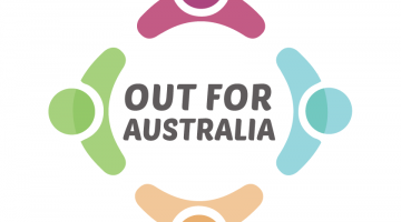 out for australia logo