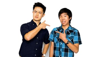 Benjamin Law (left) and Trystan Go (right), who plays his character in the upcoming TV series The Family Law [Supplied image]